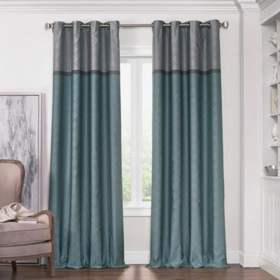 solar shield haledon 63 inch grommet room darkening window curtain panel in blue - Thermal Curtains