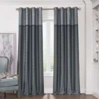 Solar Shield Haledon 63-Inch Grommet Room Darkening Window Curtain Panel in Grey