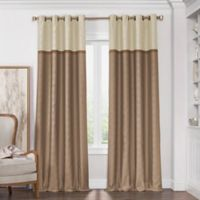 Solar Shield Haledon 63-Inch Grommet Room Darkening Window Curtain Panel in Latte