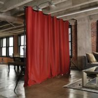 Room Dividers Now Large Freestanding Room Divider Kit A with 8-Foot Curtain Panel in Red