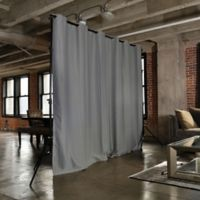 Room Dividers Now Large Freestanding Room Divider Kit A with 8-Foot Curtain Panel in Grey