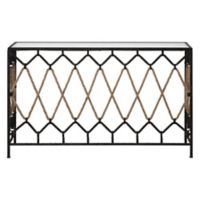 Uttermost Darya Rope and Metal Console Table in Black