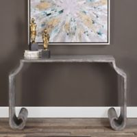 Uttermost Agathon Console Table in Stone Grey