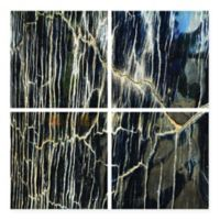 Striation Frameless Tempered Glass Wall Art