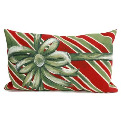 Visions II Gift Box Square Throw Pillow In Green