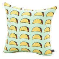DENY Designs Leah Flores Taco Party Square Throw Pillow