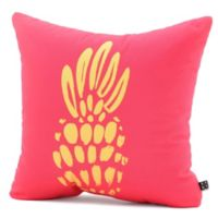 DENY Designs Allyson Johnson Neon Pineapple Square Throw Pillow
