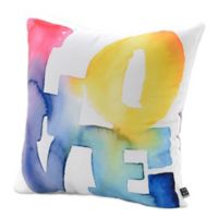DENY Designs Cmykaren Love 4 Square Throw Pillow