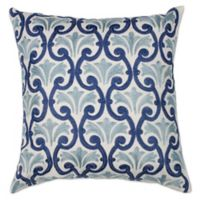 Kas® Chateau Square Throw Pillow in Ivory/Blue