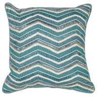Kas® Chevron Square Throw Pillow in Teal