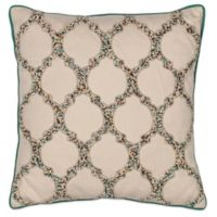 Kas® Trefoil Square Throw Pillow in Beige