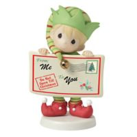 "Precious Moments® ""Joy, Peace, and Christmas Cheer In Here"" Elf Figurine"