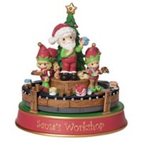 "Precious Moments® ""Santa's Workshop"" Rotating Musical Figurine"