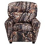 Flash Furniture Vinyl Kids Recliner with Cup Holder in Camouflage