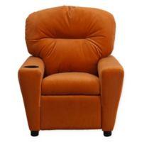 Flash Furniture Microfiber Kids Recliner with Cup Holder in Orange