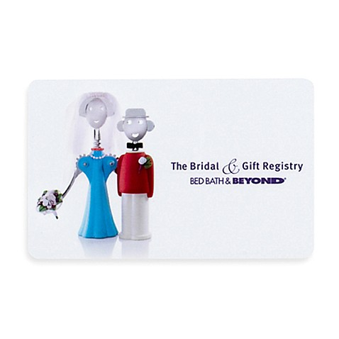Quotthe bridal gift registryquot couple gift card bed bath for Bed bath and beyond wedding gifts