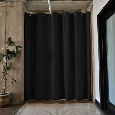Room Dividers Now Small Tension Rod Room Divider Kit A With 8 Foot Curtain  Panel