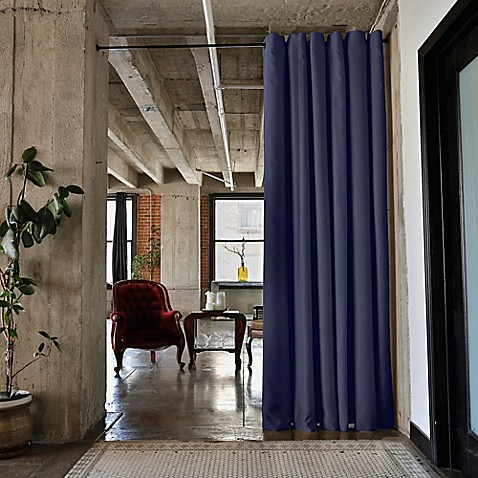 Roomdividersnow Tension Rod Room Divider Kit With Curtain