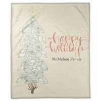 Coastal Christmas Custom Throw Blanket