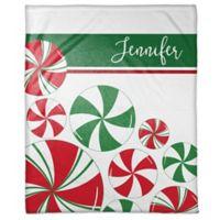 Peppermint Holiday Custom Throw Blanket