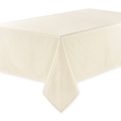 Bon Waterford® Essentials Olivette 60 Inch X 144 Inch Oblong Tablecloth In Ivory