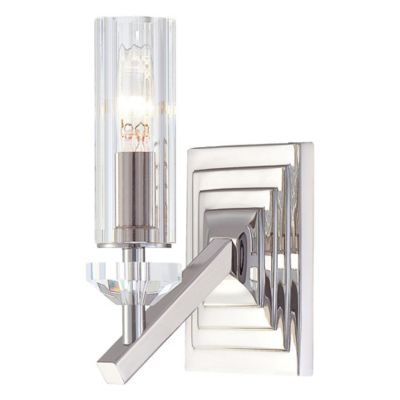 Metropolitan Fusano 1-Light Wall Sconce in Polished Nickel with Glass Shade - Bed Bath & Beyond