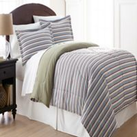 Micro Flannel® Comforter Set in Awning Stripe