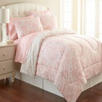 Micro Flannel® King Comforter Set in Enchantment Rose