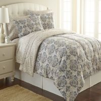 Micro Flannel® Twin Comforter Set in Leopard Damask