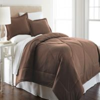 Micro Flannel® Twin Comforter Set in Chocolate