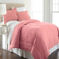 Micro Flannel® King Comforter Set in Frosted Rose