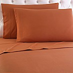 Micro Flannel® Solid Queen Sheet Set in Spice