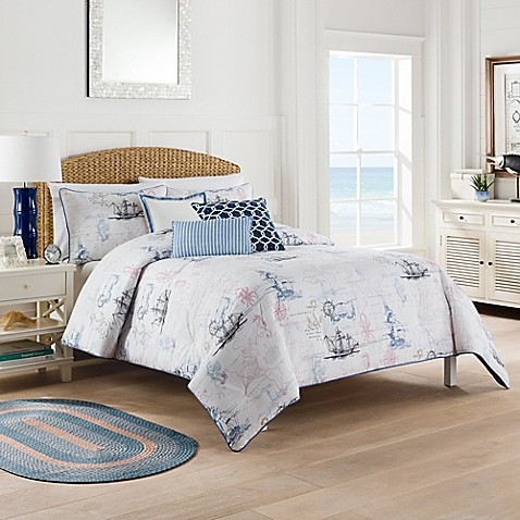 Nautical Map Comforter Set Bed Bath Amp Beyond
