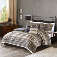 Tao 8-Piece King Comforter Set in Brown