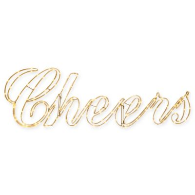 """Microlight 14-Inch LED """"Cheers"""" Sign"""