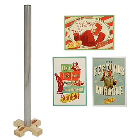 20 Inch Festivus Pole With Greeting Card Set Bed Bath Beyond