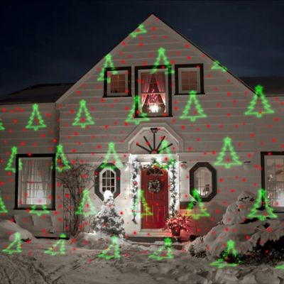 Night Stars™ Red & Green 5 Pattern Laser Light with Motion