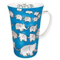 Konitz Chain of Elephants Mega Mugs in Blue (Set of 4)