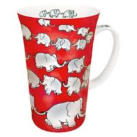 Konitz Chain of Elephants Mega Mugs in Red (Set of 4)
