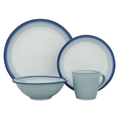 Sango Avalon 16-Piece Dinnerware Set in Aqua  sc 1 st  Bed Bath \u0026 Beyond & Buy Sango Dinnerware from Bed Bath \u0026 Beyond