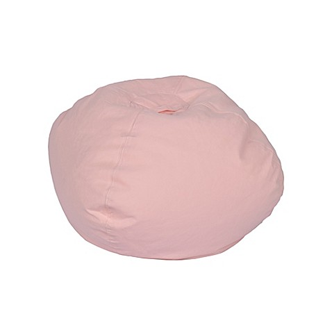 Medium Stitched Bean Bag Chair In Dusty Pink Bed Bath