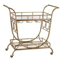 Sterling Industries Julep Series Mirrored Server Bar Cart in Gold