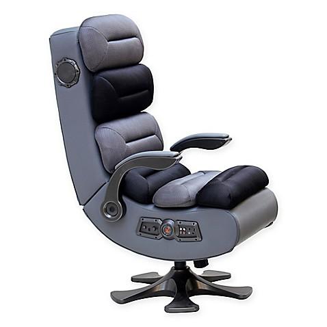 x rocker pro series ii 2 1 wireless bluetooth audio gaming chair in black grey bed bath beyond. Black Bedroom Furniture Sets. Home Design Ideas