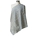 Itzy Ritzy® Nursing Happens™ Ritzy Dot Nursing Scarf in Grey