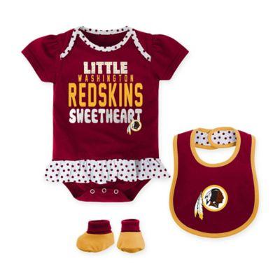 Infant Washington Redskins Bibs & Burp Cloth 3-Piece Set