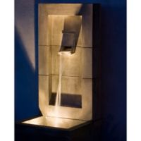 Campania Moderne Cast Stone Fountain in Greystone
