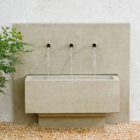 Campania X3 Outdoor Fountain in Greystone