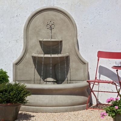 Attractive Campania Estancia Outdoor Wall Fountain In Stone
