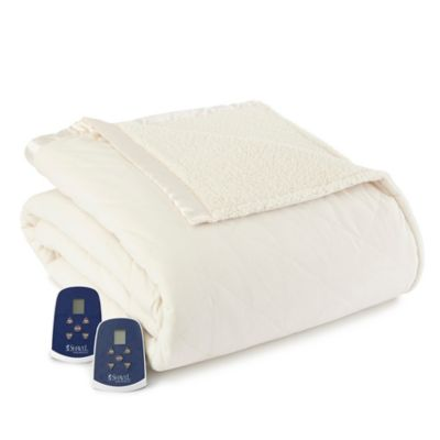Buy Micro Flannel 174 Quilted Satin Trimmed Full Queen