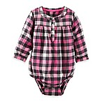 Oshkosh B'Gosh® Size 3M Cotton Plaid Bodysuit in Pink